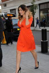 Kelly Brook Visiting Radio One in London, September 2014