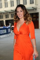 Kelly Brook Visiting Radio One in London, September 2014