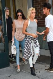 Kendall Jenner & Hailey Baldwin Leaving an Apartment in New York City - September 2014