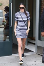 Kendall Jenner in Mini Dress Out in New York City - September 2014
