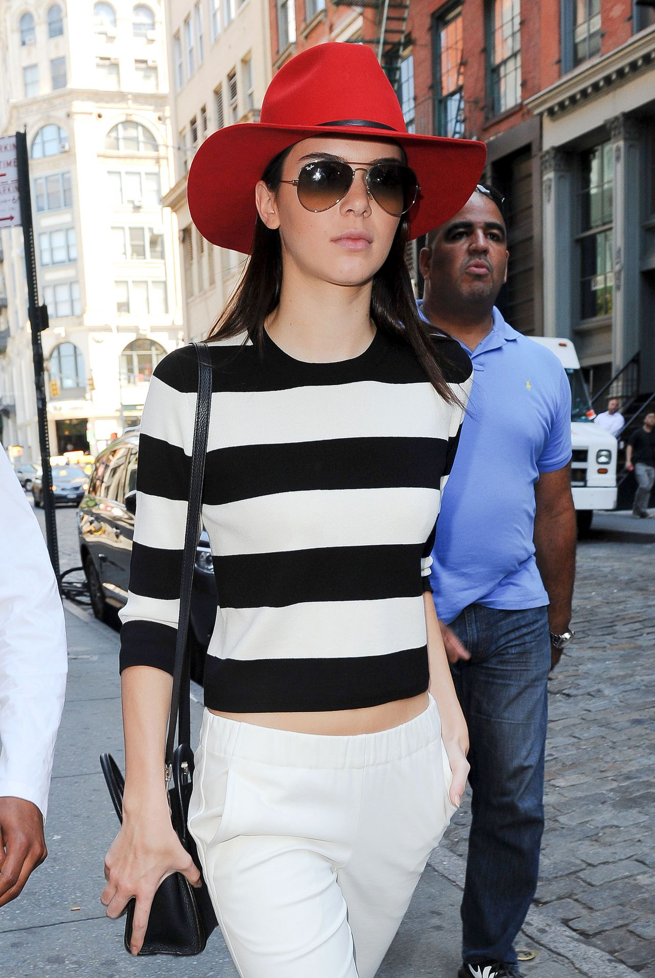Kendall Jenner Marine Style - Out in Manhattan, Septebmer 2014