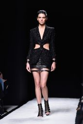 Kendall Jenner on the Catwalk - Paris Fashion Week - The Balmain Show, September 2014