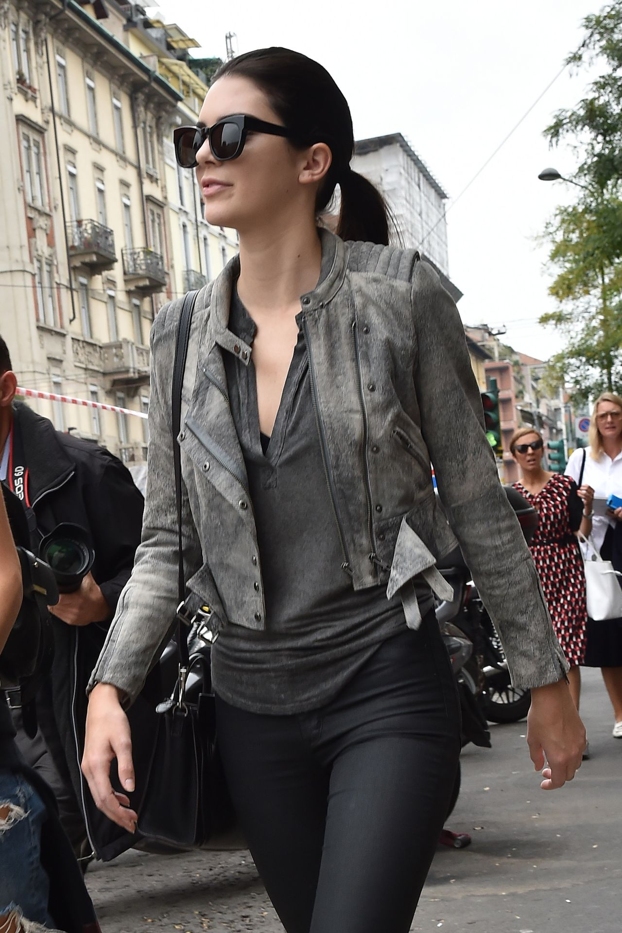 Kendall Jenner Street Style Out In Milan Italy