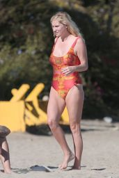 Kesha Sebert in a Swimsuit at a beach in Malibu - August 2014