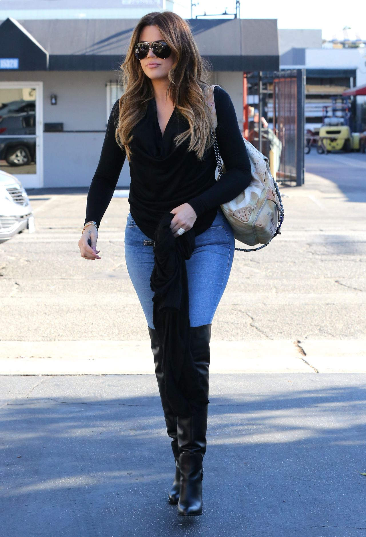 Khloe Kardashian in Jeans - Out in Beverly Hills - September 2014