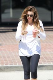 Khloe Kardashian in Leggings - Leaving Earthbar in Los Angeles, September 2014