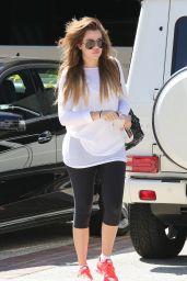 Khloe Kardashian in Leggings - Leaving Earthbar in Los Angeles, September 2014
