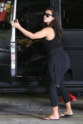 Kim Kardashian All in Black - Going to a Meeting in Encino - September 2014