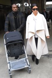 Kim Kardashian & Kanye West in Paris (France) - September 2014