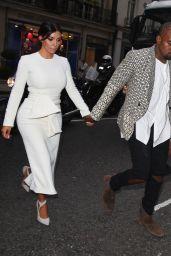 Kim Kardashian & Kanye West out for Dinner in London – September 2014