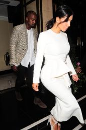 Kim Kardashian & Kanye West out for Dinner in London – September 2014