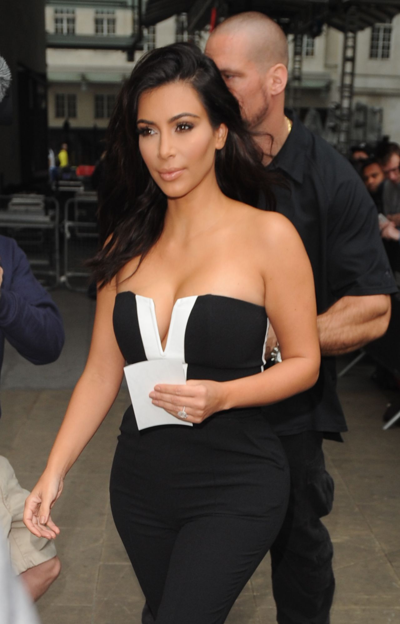 Kim Kardashian - Leaving BBC Radio1 in central london - September 2014