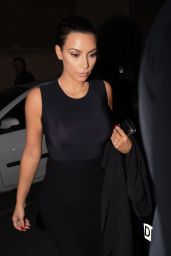 Kim Kardashian Night Out Style - Arriving to Ferdi Restaurant in Paris, September 2014
