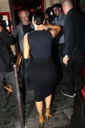 Kim Kardashian Night Out Style - Arriving to Ferdi Restaurant in Paris, September 2014