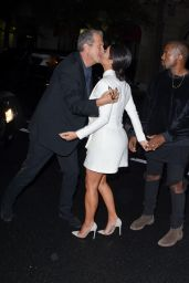 Kim Kardashian Night Out Style - Going to a Fashion Week Party in Paris - Sept. 2014