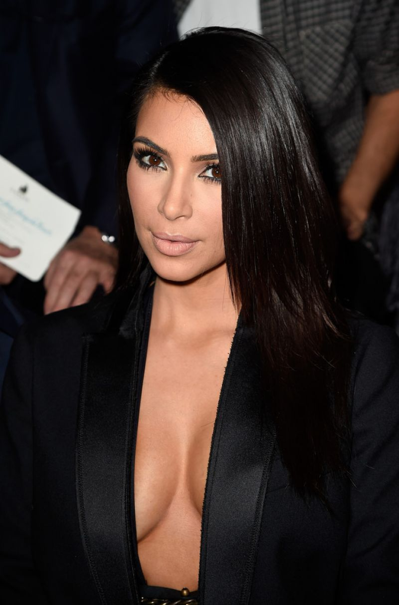 Kim Kardashian - Paris Fashion Week in Paris, Lanvin Show - September ...