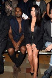 Kim Kardashian - Paris Fashion Week in Paris, Lanvin Show - September 2014