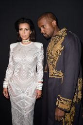 Kim Kardashian - Paris Fashion Week - The Balmain Show, September 2014