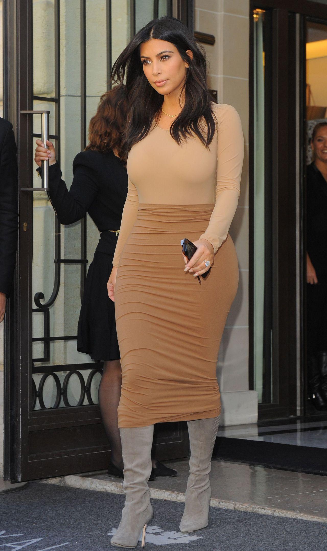 Kim Kardashian Style - Out in Paris, September 2014