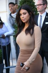 Kim Kardashian Style - Out in Paris, September 2014