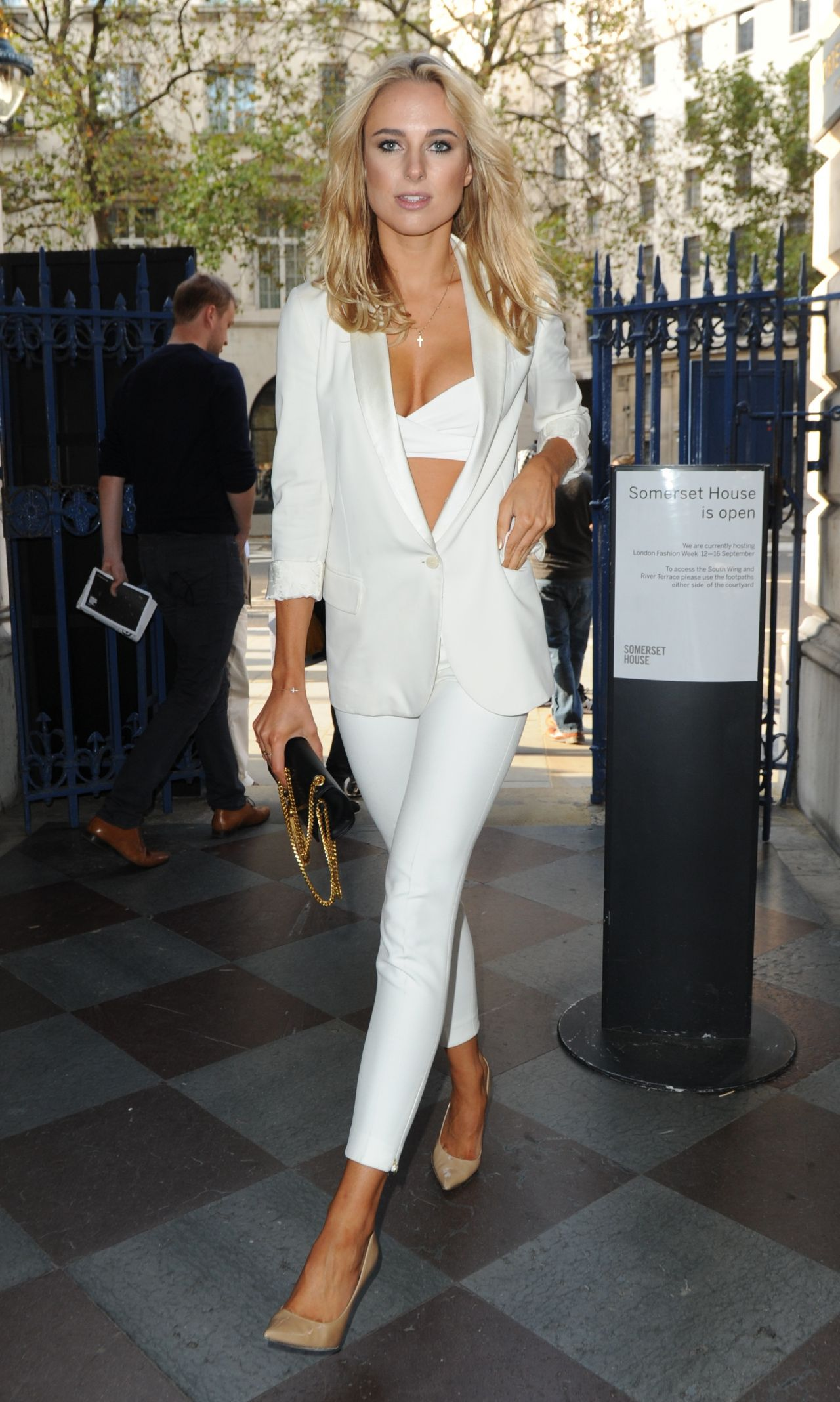 Kimberley Garner At Somerset House For London Fashion Week September 2014