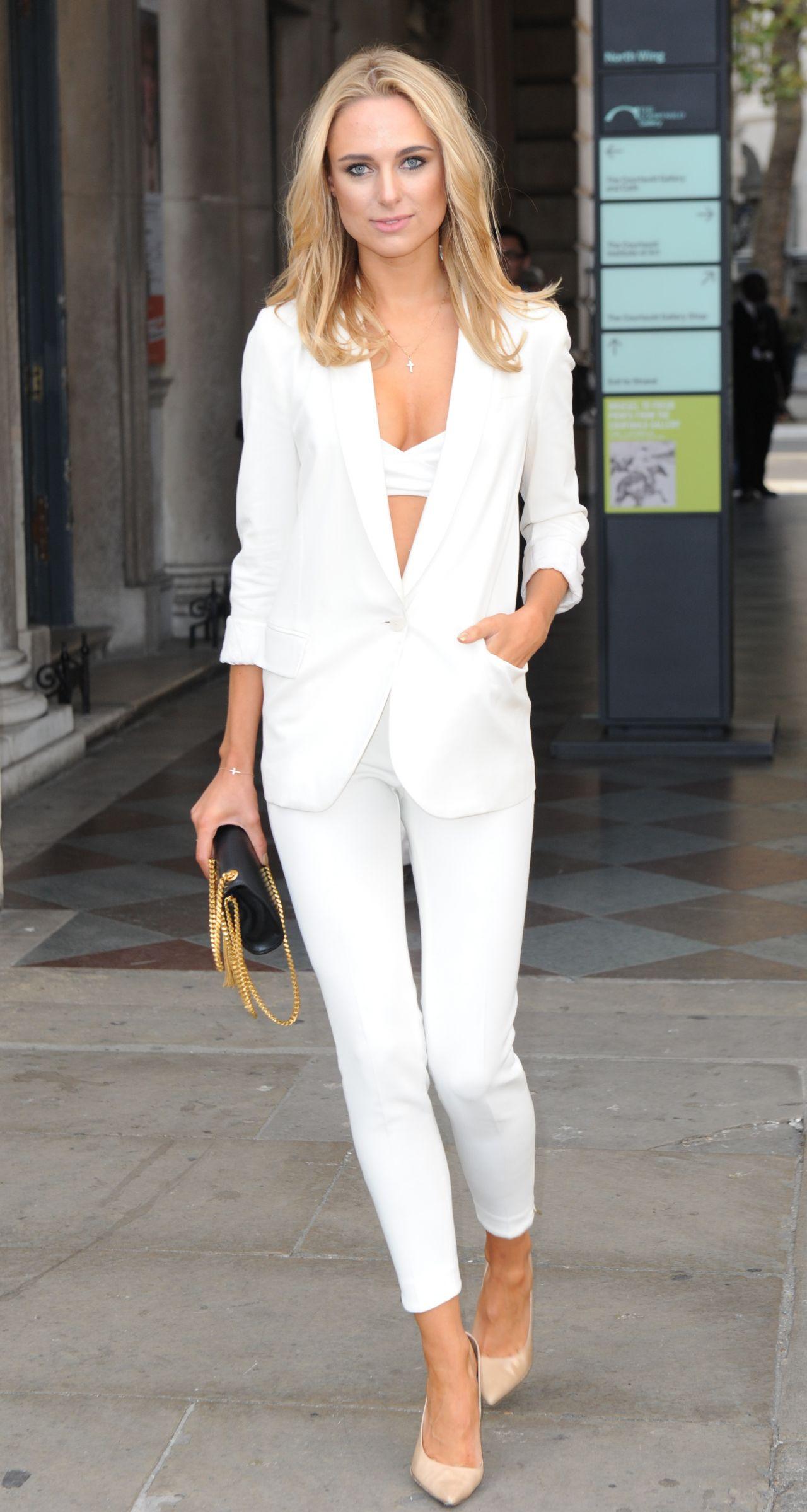 Kimberley Garner At Somerset House For London Fashion Week September 2014