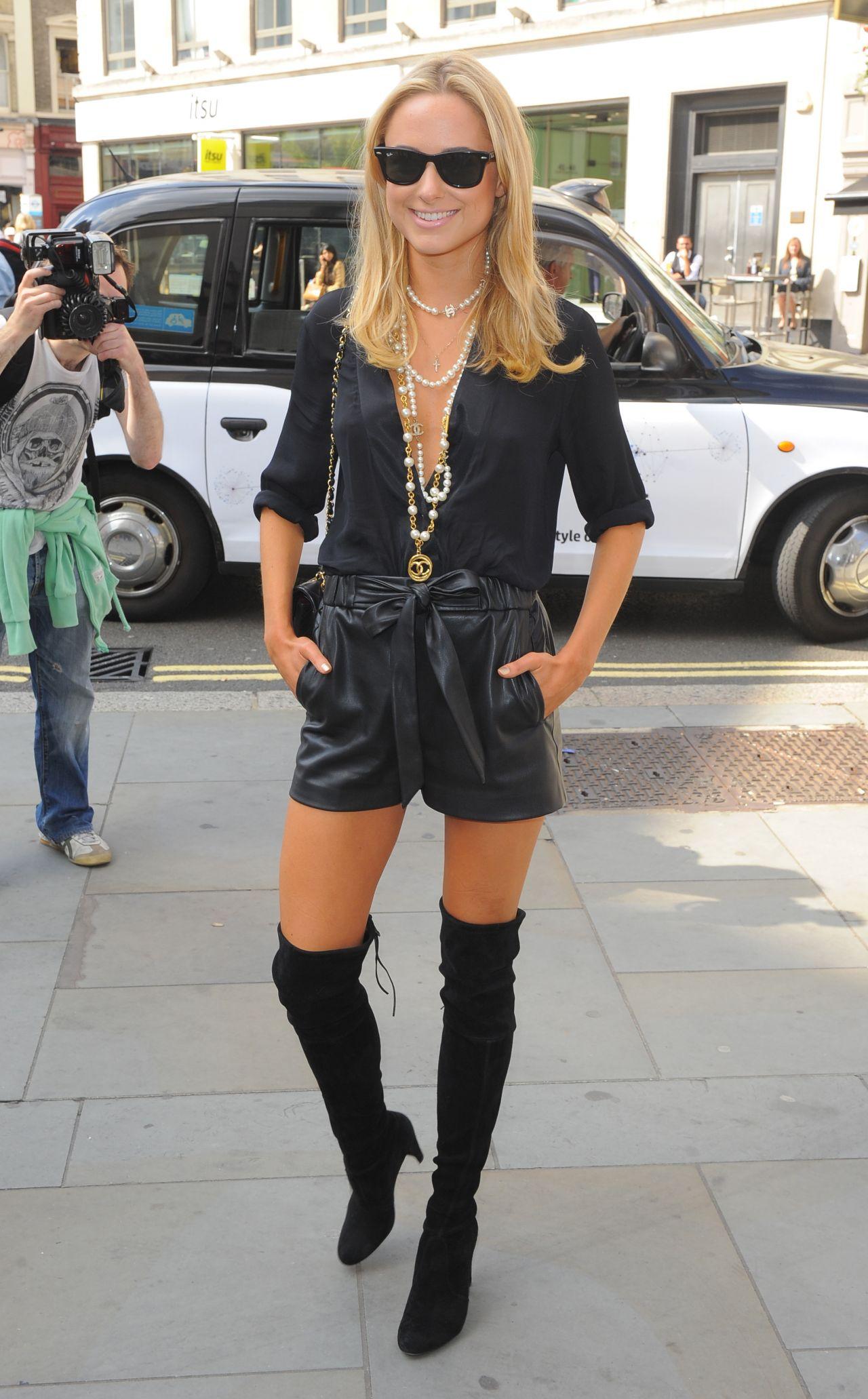 Kimberley Garner Hot Style Somerset House For London Fashion Week September 2014