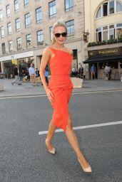 Kimberley Garner in Red Dress at Freemasons Hall for London Fashion Week 2014