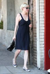 Kirsten Dunst in Black Summer Dress - Running Errands In Los Feliz, Sept. 2014