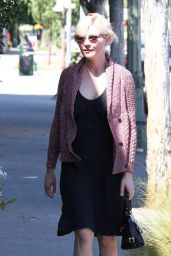 Kirsten Dunst in Black Summer Dress - Running Errands In Los Feliz, Sept. 2014