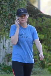 Kirsten Dunst in Leggings - Out in Los Angeles - September 2014