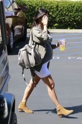 Kourtney Kardashian in Mini Dress - Leaving a Business Meeting in Los Angeles - Sept. 2014