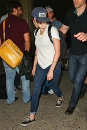 Kristen Stewart - Arriving Back at LAX Airport - September 2014