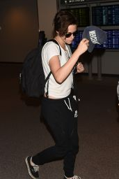Kristen Stewart at the Airport in Tokyo - September 2014
