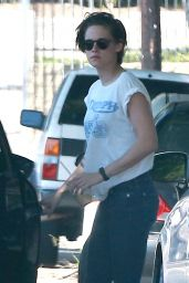 Kristen Stewart Street Style - Out in Los Angeles, August 2014