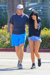 Kylie Jenner and Bruce Jenner out in West Hollywood, September 2014