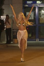Lady Gaga Arrived at the Athens International Airport - September 2014