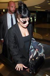 Lady Gaga at LAX Airport - September 2014