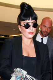 Lady Gaga at LAX Airport - September 2014