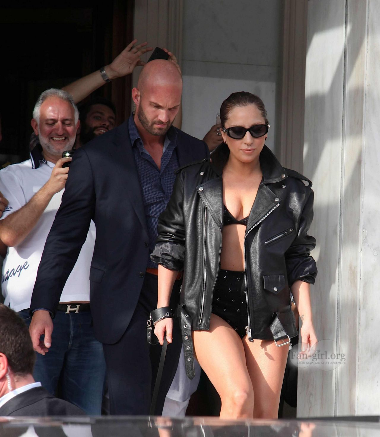Lady Gaga is Stylish -  Leaving Her hotel in Athens, September 2014