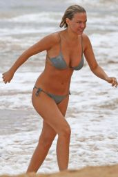 Lara Bingle in a Bikini on a Beach in Hawaii - August 2014