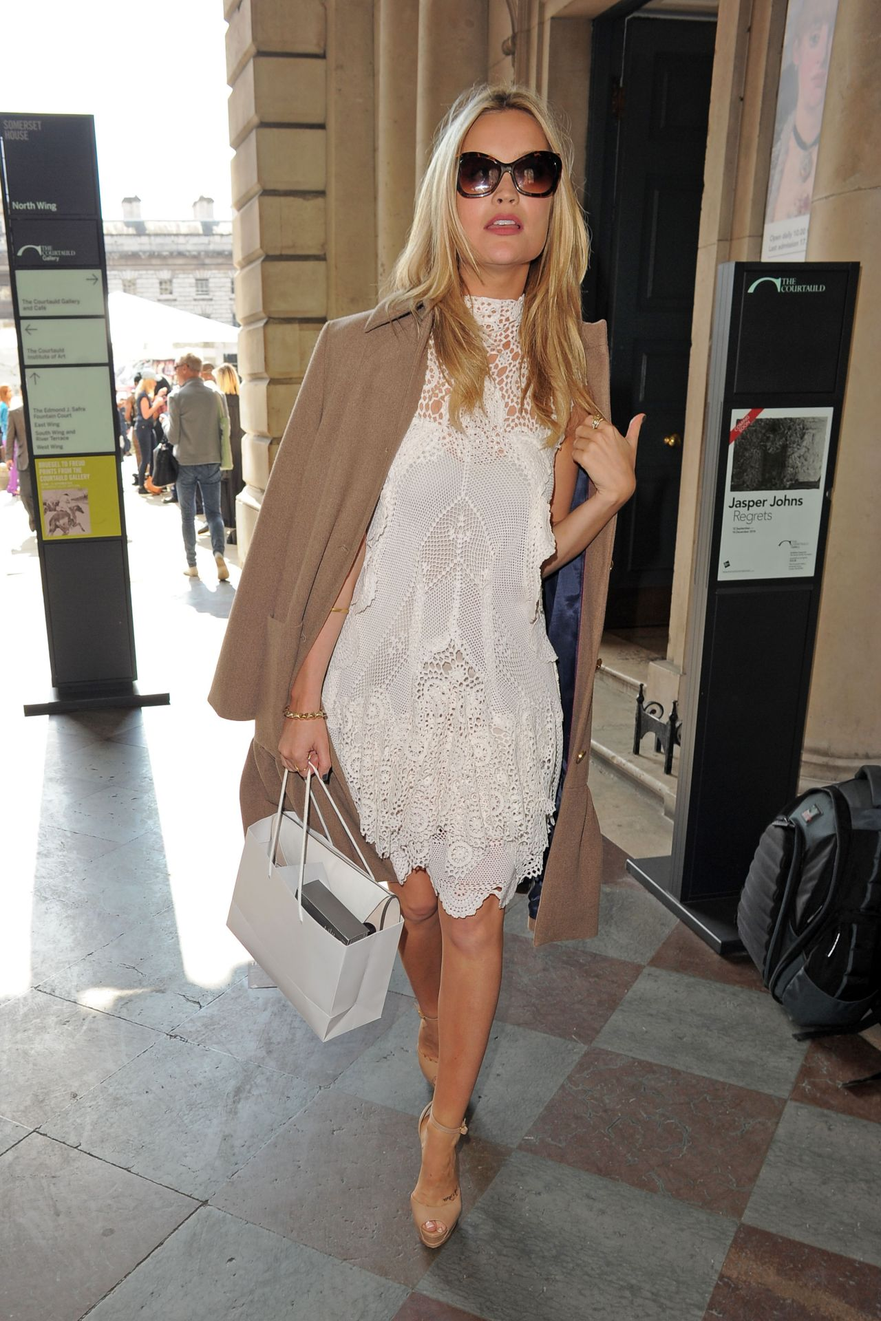 Laura Whitmore Somerset House For London Fashion Week September 2014