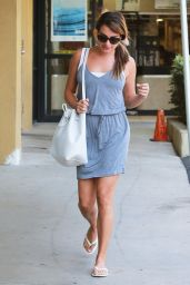 Lea Michele at Earth Bar in West Hollywood - September 2014