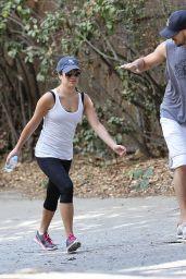 Lea Michele in Leggings - Hiking in Studio City, September 2014