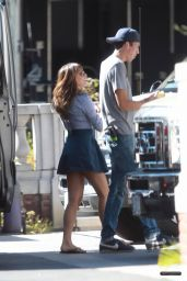 Lea Michele on the Set of