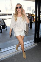 LeAnn Rimes in Shorts - LAX Airport in Los Angeles - September 2014