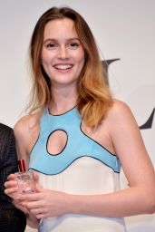 Leighton Meester in Mini Dress - Promoting Luxurious Brand St Rillian in Tokyo