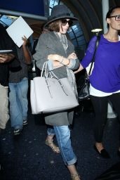 Lily Collins at LAX airport in Los Angeles - September 2014