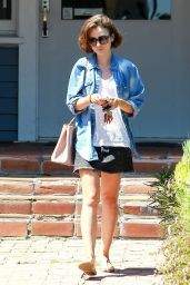 Lily Collins Leaving a SPA in Los Angeles - September 2014