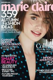 Lily Collins - Marie Claire Magazine (UK) - October 2014 Cover